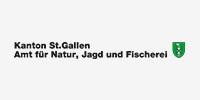 Logo des Amts für Natur, Jagd und Fischerei, welches als Sponsor für den Verein Naturschule St. Gallen auftritt.