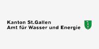 Logo des Amts für Wasser und Energie, welches als Sponsor für den Verein Naturschule St. Gallen auftritt.