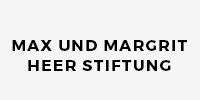 Schriftzug der Max und Margrit Heer Stiftung, welche als Sponsor für den Verein Naturschule St. Gallen auftritt.