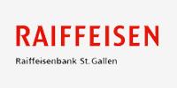 Logo der Raiffeisen St. Gallen, die den Verein Naturschule St. Gallen als Sponsor unterstützt.