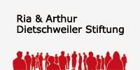 Logo der Ria und Arthur Dietschweiler Stiftung, die als Sponsorin für den Verein Naturschule St. Gallen auftritt.